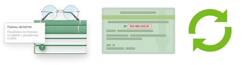 Процедура замены СНИЛС на новый при смене фамилии и при утере